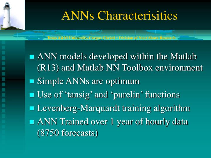 ANNs Characterisitics