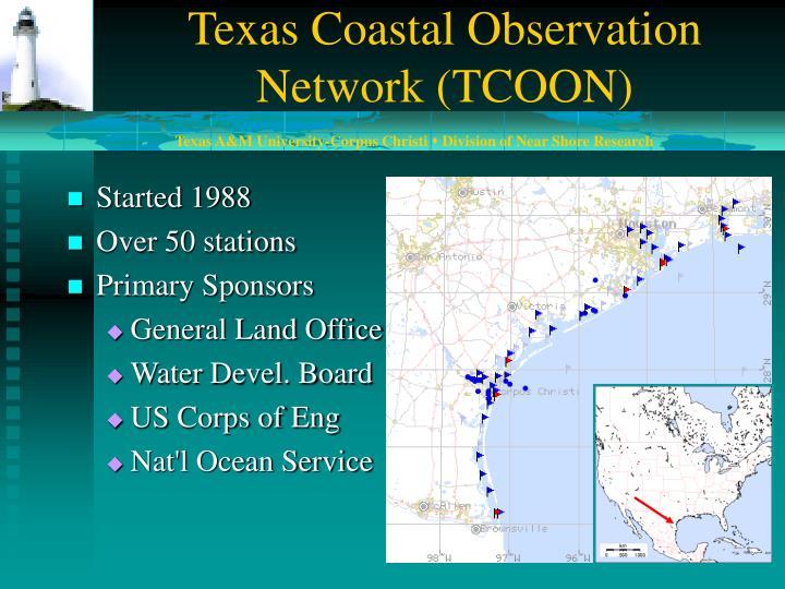 Texas Coastal Observation Network (TCOON)