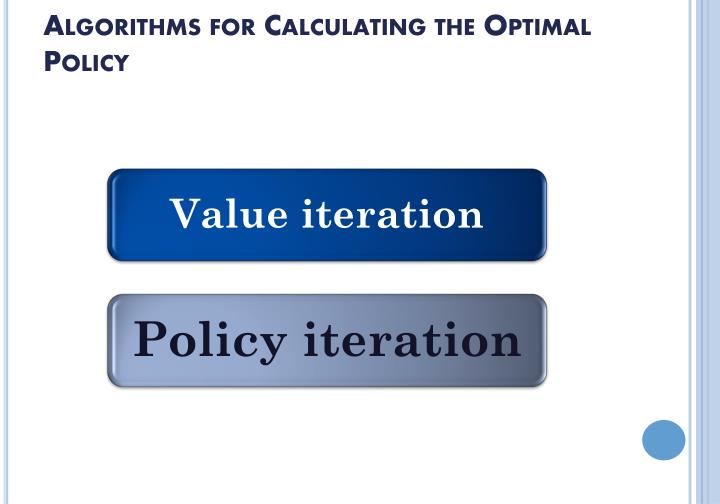 Algorithms for Calculating the Optimal