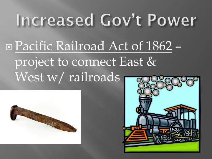 Pacific Railroad Act of 1862