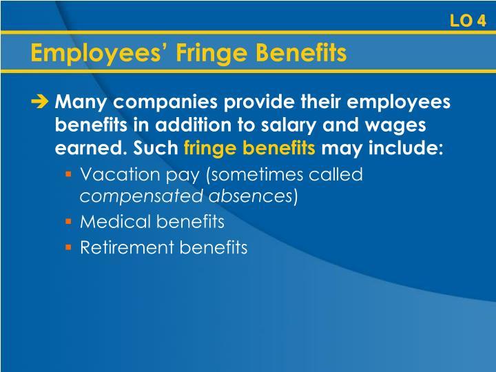 Employees' Fringe Benefits