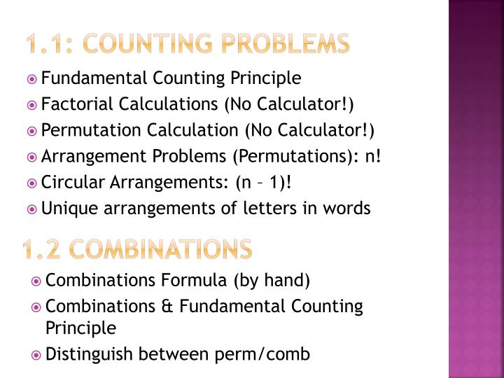 1.1: Counting Problems