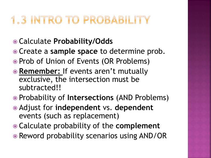 1.3 Intro to probability