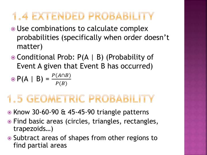 1.4 Extended Probability