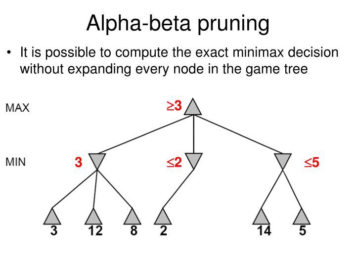 Alpha-beta pruning