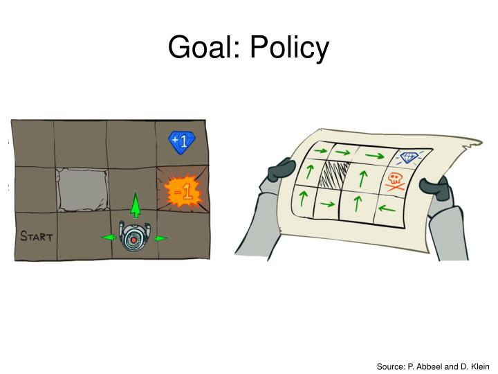 Goal: Policy