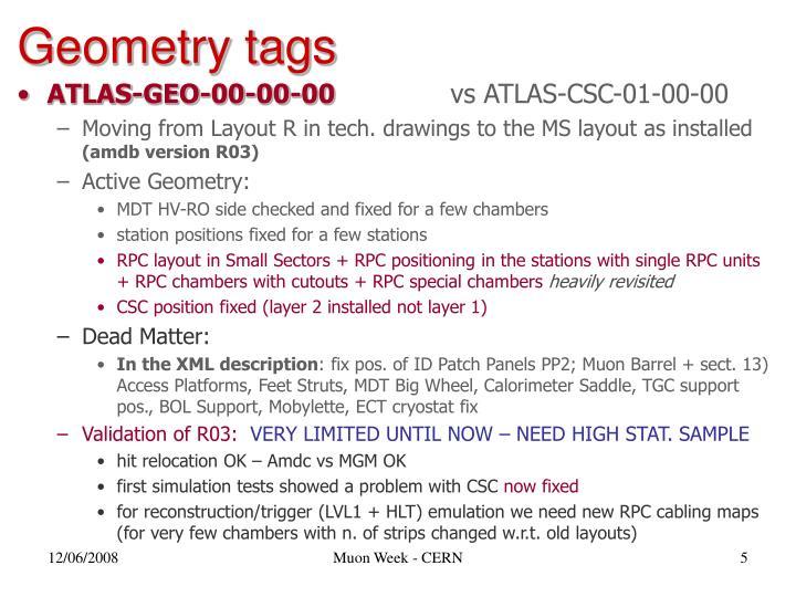Geometry tags
