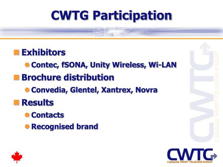 CWTG Participation
