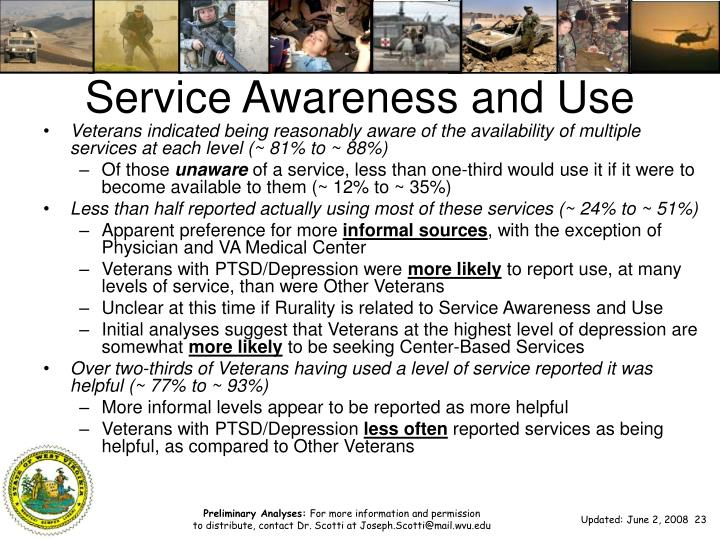 Service Awareness and Use