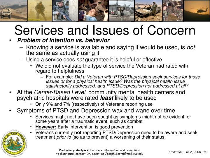 Services and Issues of Concern