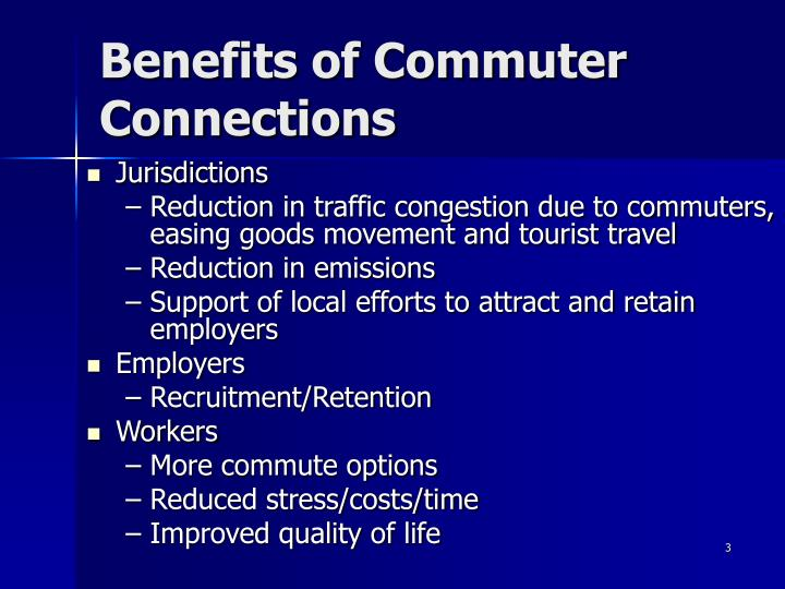 Benefits of commuter connections