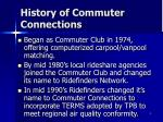 history of commuter connections