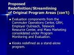 proposed redefinition streamlining of original program areas con t1