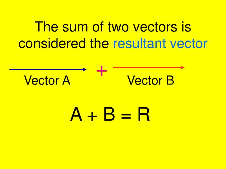The sum of two vectors is considered the