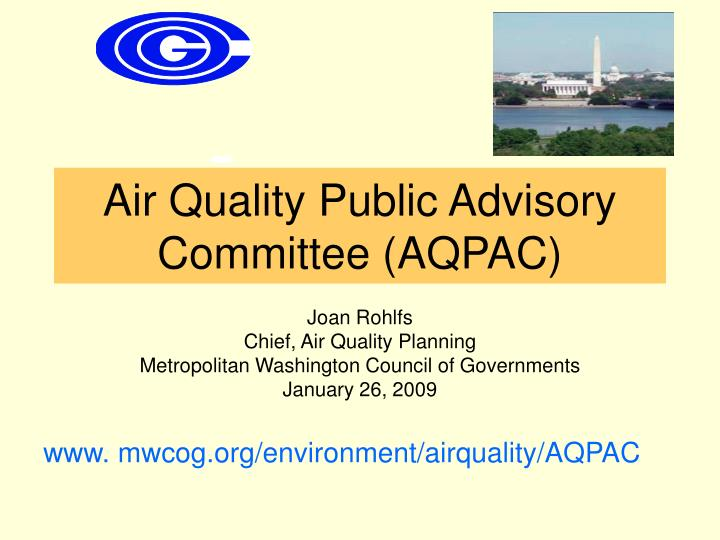 air quality public advisory committee aqpac