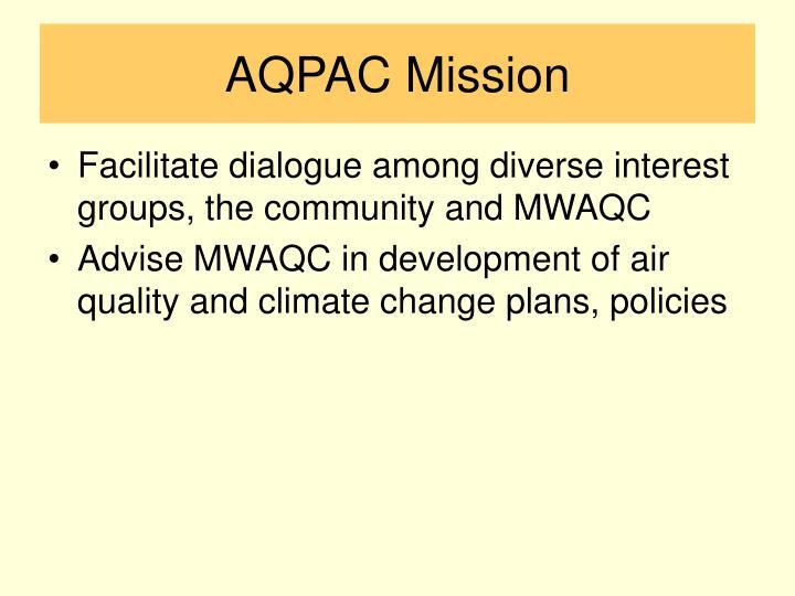 AQPAC Mission