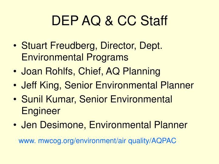 DEP AQ & CC Staff