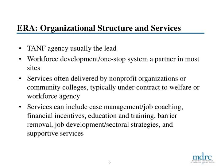 ERA: Organizational Structure and Services