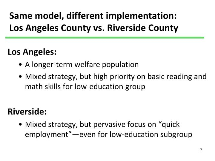 Same model, different implementation: