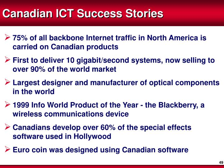 Canadian ICT Success Stories