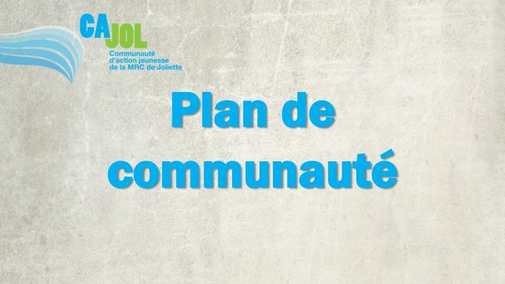 Plan de communauté