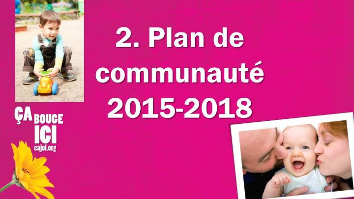 2. Plan de communauté 2015-2018