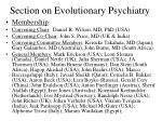 section on evolutionary psychiatry1