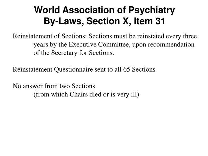 World Association of Psychiatry