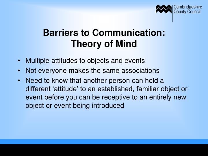 Barriers to Communication: