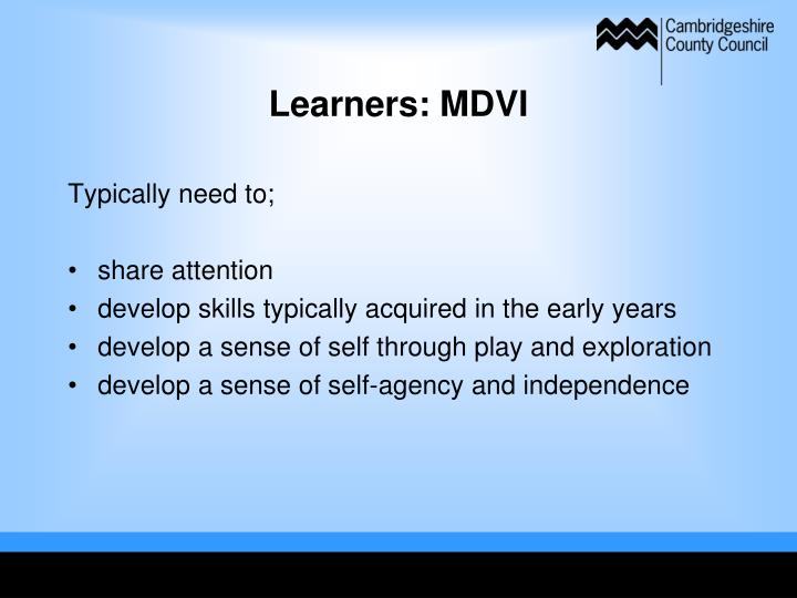 Learners: MDVI