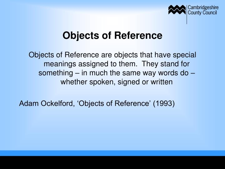 Objects of Reference
