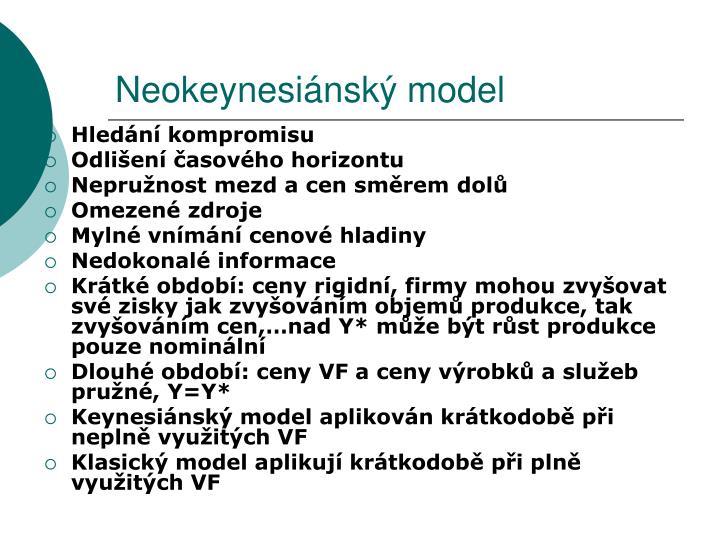 Neokeynesiánský model