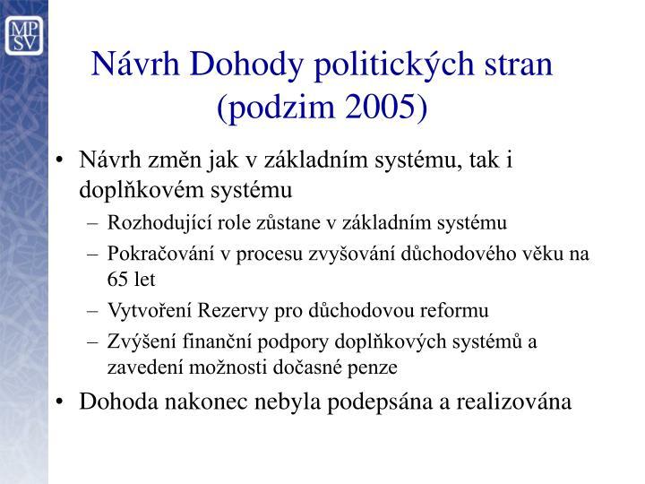 Návrh Dohody politických stran