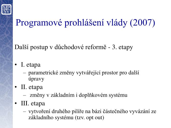 Programové prohlášení vlády (2007)