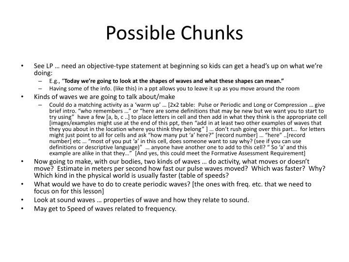 Possible Chunks