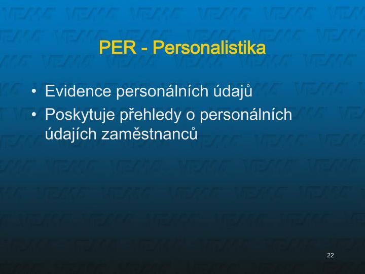 PER - Personalistika