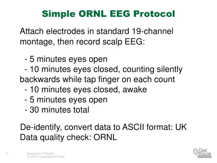 Simple ORNL EEG Protocol