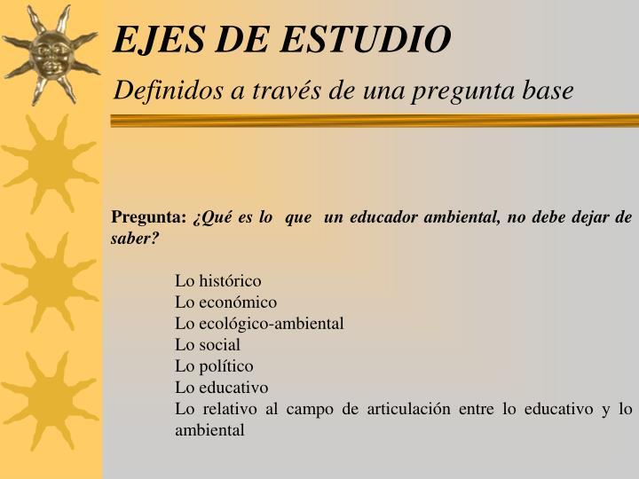 EJES DE ESTUDIO