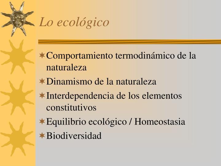 Lo ecológico