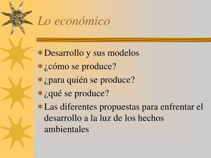 Lo económico