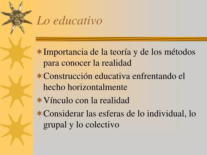 Lo educativo
