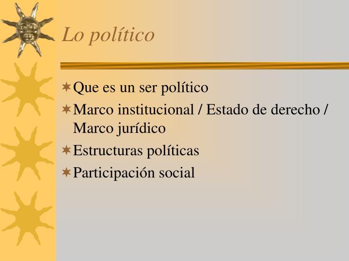 Lo político