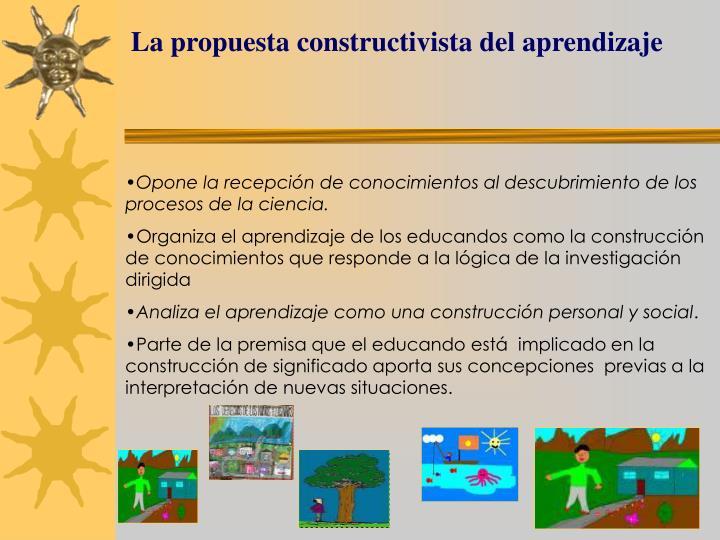 La propuesta constructivista del aprendizaje
