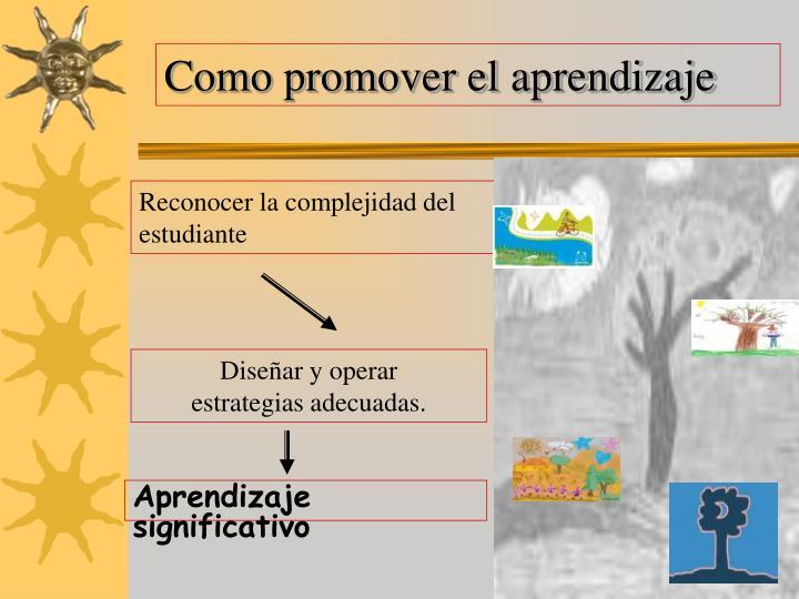 Como promover el aprendizaje