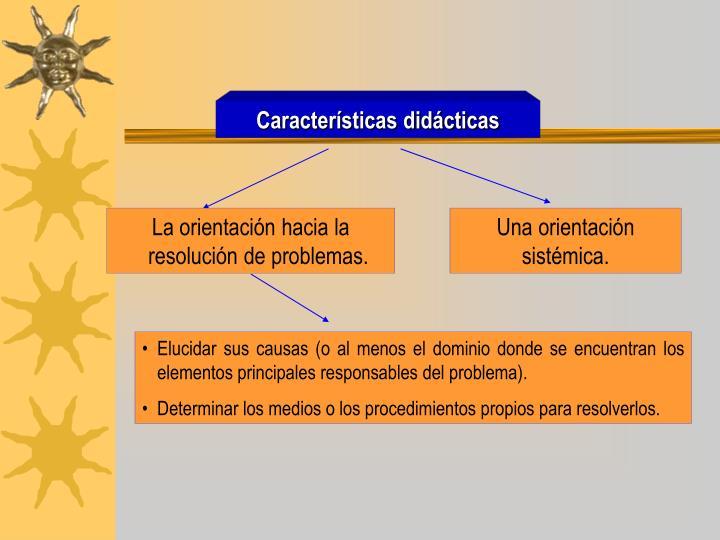 Características didácticas