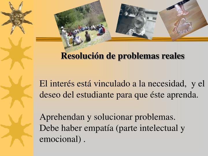Resolución de problemas reales