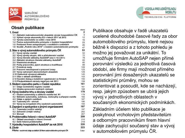 Obsah publikace