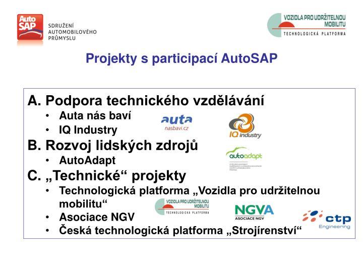Projekty s participací AutoSAP
