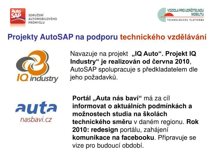 Projekty AutoSAP na podporu