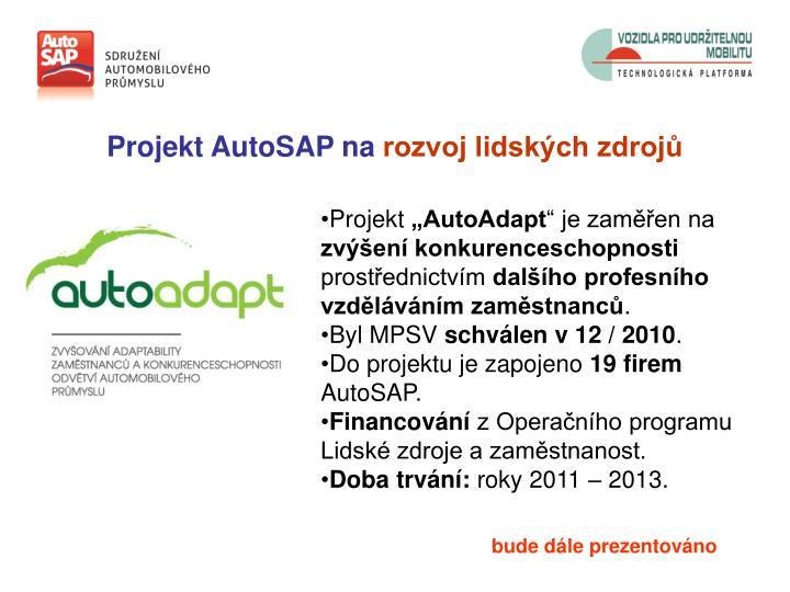 Projekt AutoSAP na